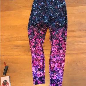 Lululemon luxtreme floral leggings size 10